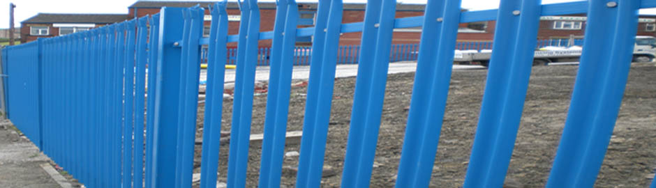 Steel Palisade Powder coated blue