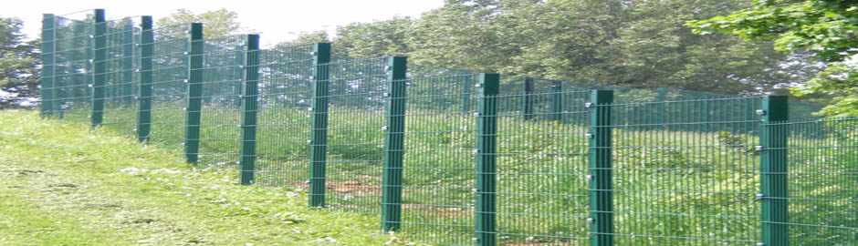 Twin Wire Mesh 656 for Boston Spa School in half sections to accomodate sloping ground.